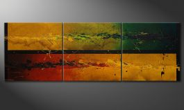 Big painting 'Blowing Elements' 240x80cm