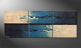 Canvas painting 'Against The Drift' 180x70cm