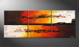 Canvas painting 'Battle Of Fire' 180x70cm