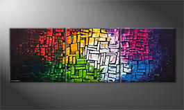 Canvas painting 'Colors Of Light' 210x70cm