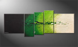 Canvas painting 'Fruity Green' 210x80cm