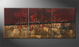 Canvas painting 'Golden Tune' 180x80cm