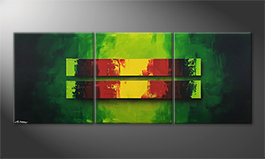 Canvas painting 'Jungle Fever' 180x70cm