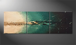 Canvas painting 'Light Rupture' 210x70cm