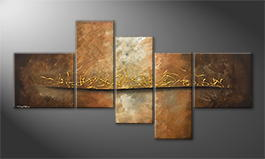 Canvas painting 'Lost Gold' 180x95cm
