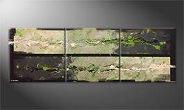 Canvas painting 'Nature Force' 240x80cm