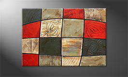 Canvas painting 'Red Earth' 120x80cm