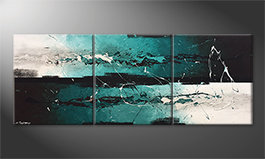 Canvas painting 'Refreshness' 180x70cm