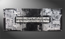 Canvas painting 'Riven White' 180x70cm
