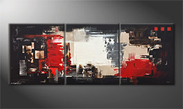 Canvas painting 'Rumble Of Light' 180x70cm
