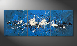 Canvas painting 'Water Spectacle' 180x70cm