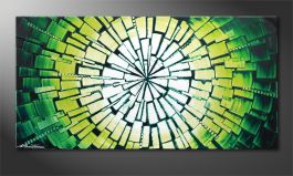 Framed painting 'Center of Jungle' 120x60cm