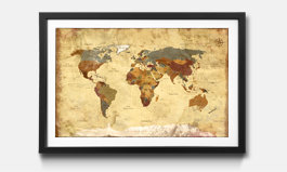 Our framed prints world maps framed wall art old worldmap gumiabroncs Images