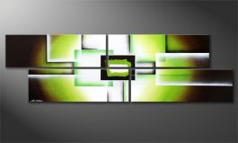 'Green Spirit' 200x60cm Painting