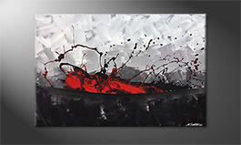 Hand-painted painting 'Aboiled Red' 120x80cm