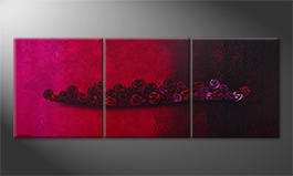 Hand-painted painting 'Bed Of Roses' 210x80cm