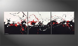 Hand-painted painting 'Clashing Contrasts' 210x70cm