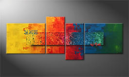 Hand-painted painting 'Colors Of Nature' 180x70cm