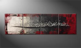 Hand-painted painting 'Falling Contrast' 200x60cm