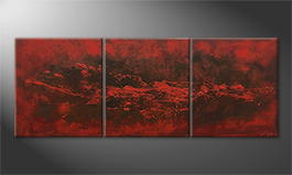 Hand-painted painting 'Heaven and Hell' 210x80cm