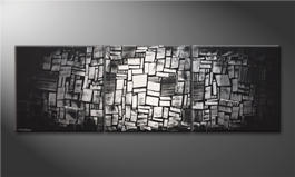 Hand-painted painting 'Light Mosaic' 240x80cm