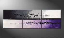 Hand-painted painting 'Night Color Splash' 210x70cm