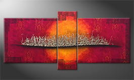 Hand-painted painting 'Silver Blaze' 190x90cm