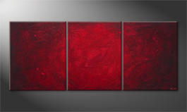 Hand-painted painting 'Simply Red' 210x90cm