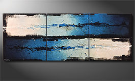 Living room painting 'Against The Drift' 270x100x4cm