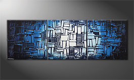 Living room painting 'Ice Cubes' 210x70cm