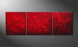 Living room painting 'Red Sky' 230x80cm