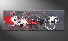 Modern painting 'Blasted Contrast' 210x70
