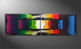 Modern painting 'Color Drive' 200x60cm