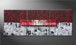 Modern wall-art 'Clear Thought' 180x70cm