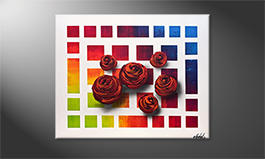 Modern wall-art 'Colors Of Roses' 100x80cm