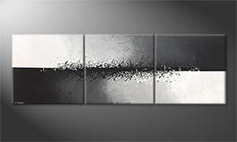 Modern wall-art 'Connected Contrast' 240x80cm