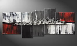 Modern wall-art 'Silver Connection' 190x80cm