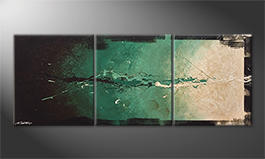 Modern wall-art 'Think And Act' 180x70cm