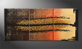 Our wall-art 'Black Canyon' 180x80cm