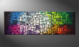 Our wall-art 'Colors Of A City' 240x80cm