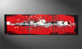 Our wall-art 'Cooled Emotions' 210x60cm