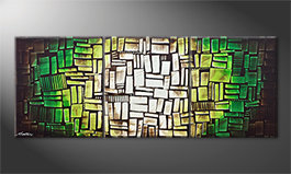 Our wall-art 'Cubes Of Hope' 180x70cm