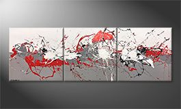 Our wall-art 'Emotional Movement' 210x70cm