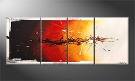 Our wall-art 'Fire On Ice' 180x70cm