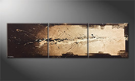 Our wall-art 'Flowing Light' 210x60cm