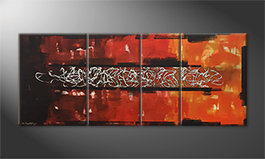 Our wall-art 'Glowing Silver' 170x70cm