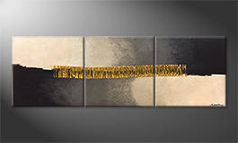 Our wall-art 'Golden Connection' 210x70cm