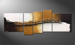Our wall-art 'Golden Harmony' 210x80cm