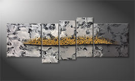 Our wall-art 'Golden Moves' 210x80cm