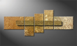 Our wall-art 'Golden Treasure' 210x80cm